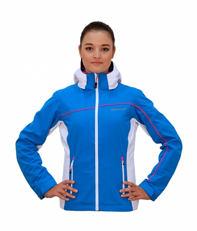 Lyžařská bunda blizzard Viva Power Jacket, blue/white/pink 2015
